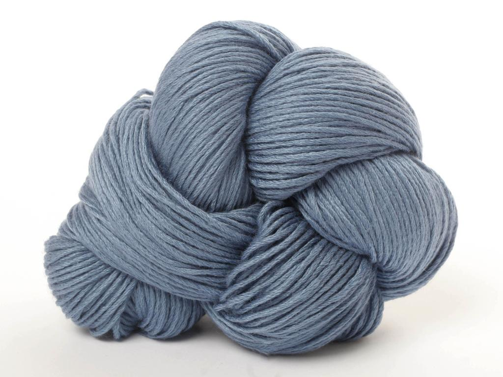 Ball of Grey/Blue Wool Yarn