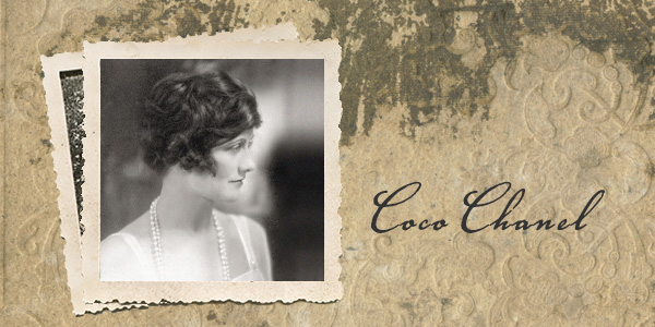 Postcard Featuring Image and Signature of Coco Chanel
