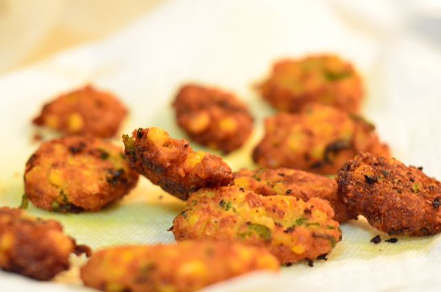 Corn-peanut Fritters on Plate