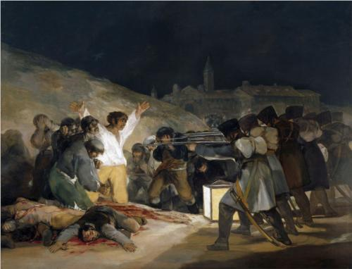 Painting of a Firing Squad and Captives