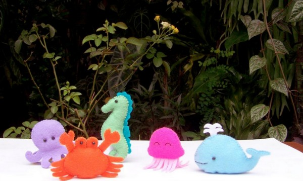 Colorful Sea Creatures Finger Puppets