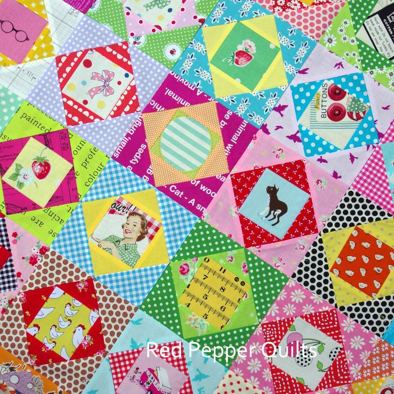 Quilt with Alternating Pattern and Pictorial Quilt Blocks