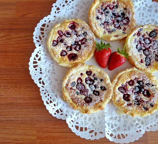 Five Fruit Tarts on a Doily