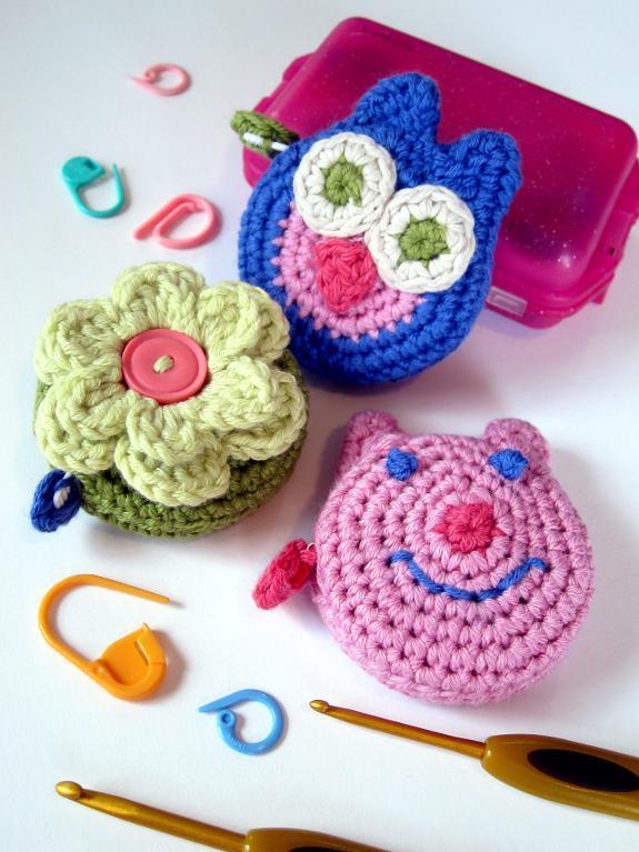 Mini Crocheted Tape Measure Covers