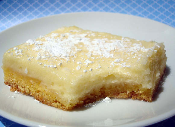 Butter Cake on Plate with Bite Missing