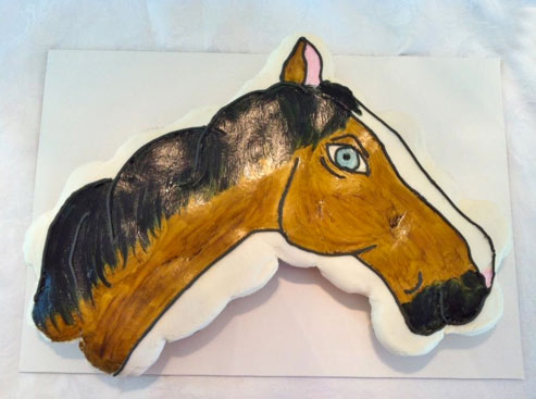 Cupcakes in Shape of A Horse Head