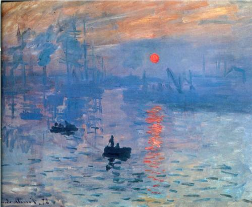 "Monet ""Impression, Sunrise"" 1873"