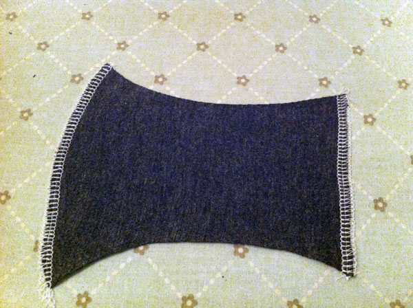 Plain Fabric Piece, Serged