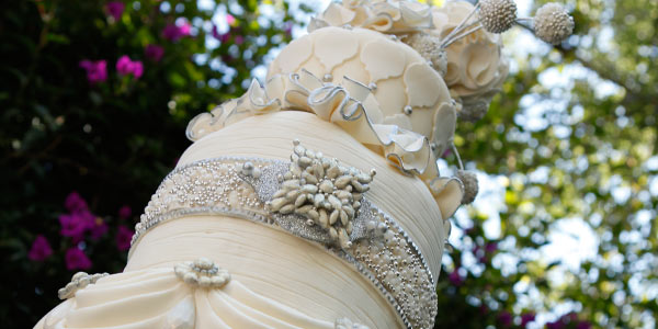 Marina Sousa's Jeweled Wedding Cake
