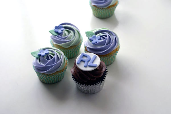 Blue Iced Cupcakes, on Reading RL