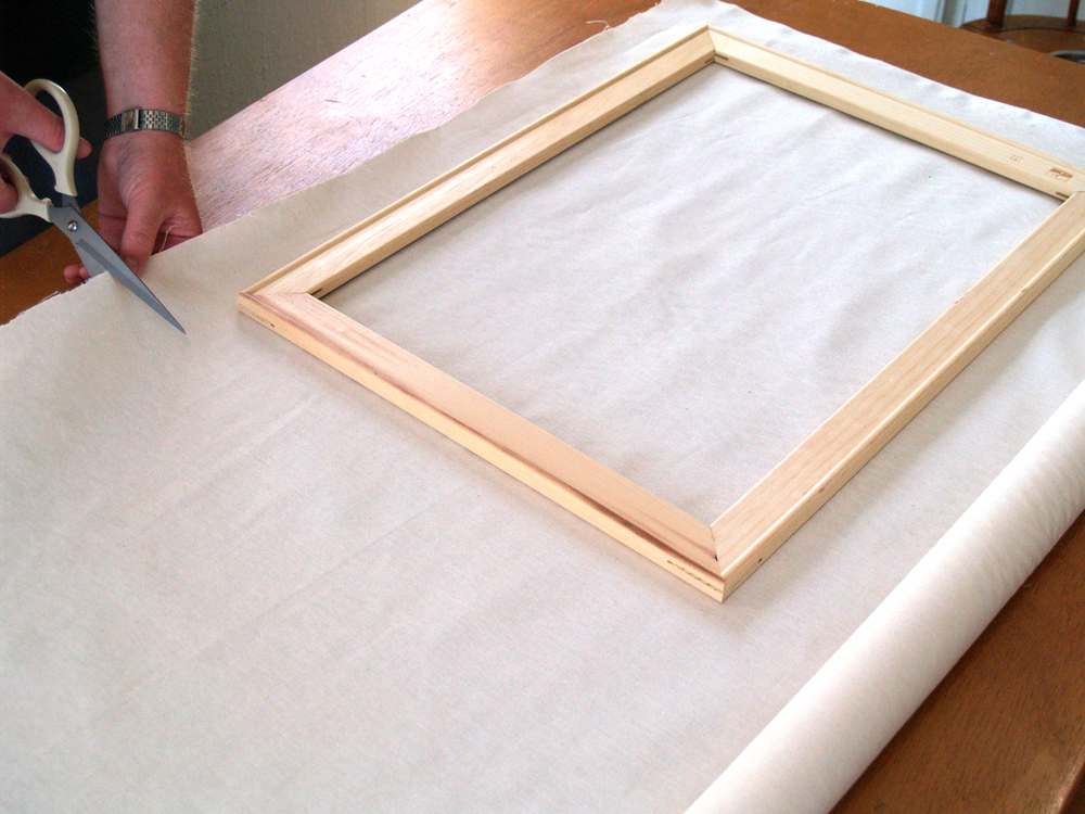 Cutting Canvas for Wooden Frame