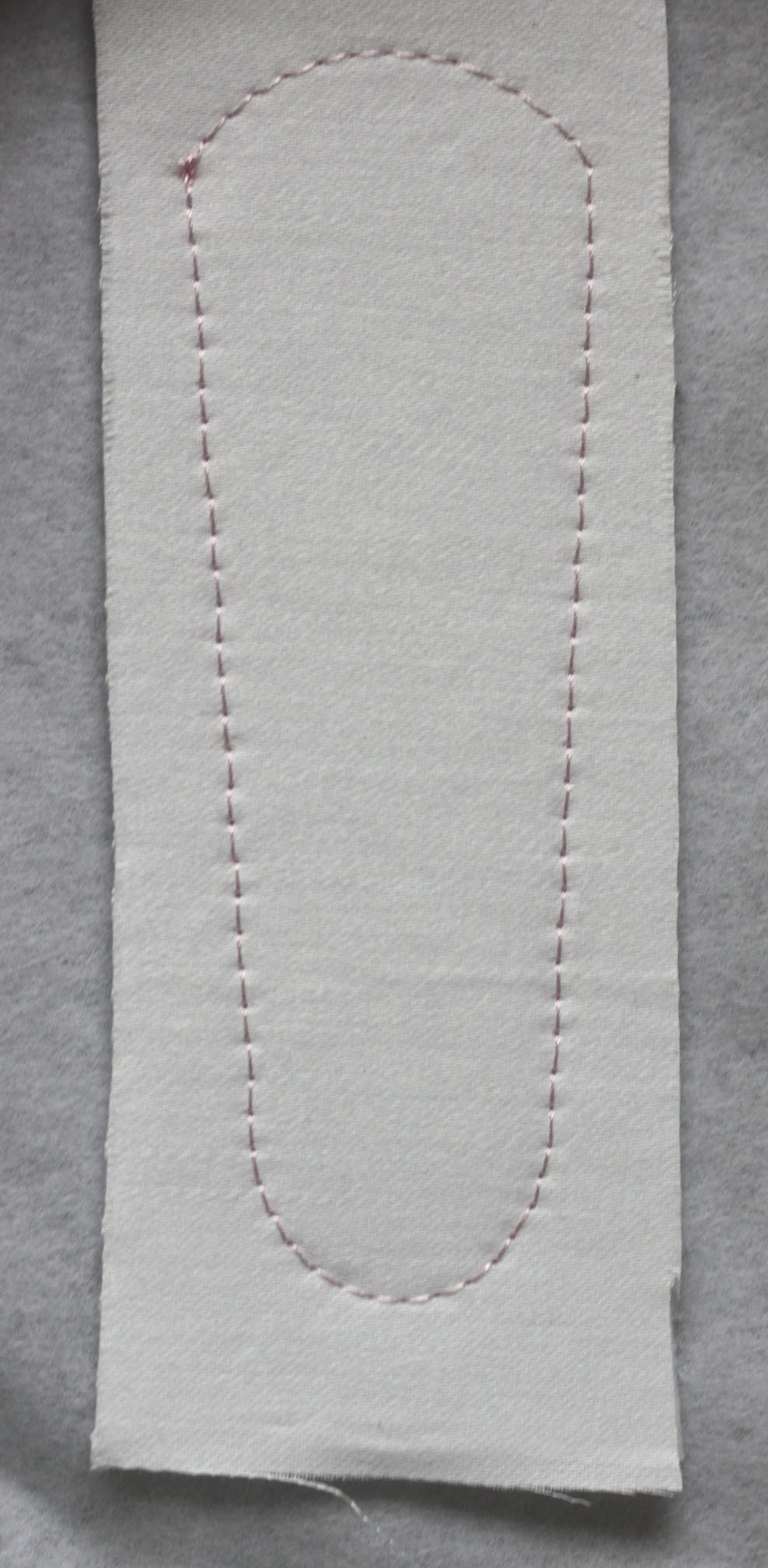Fabric with Outline Stitch