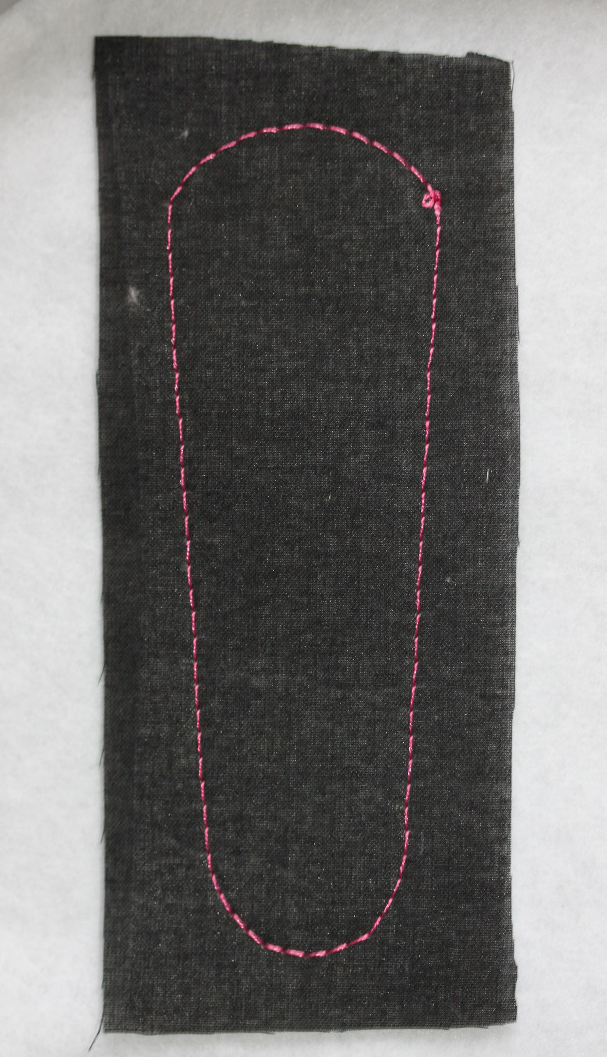 Black Fabric with Pink Outline Stitch