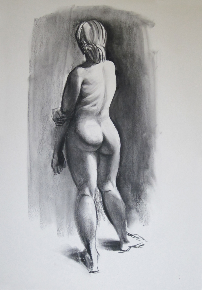 Finished Sketch of Nude from Behind