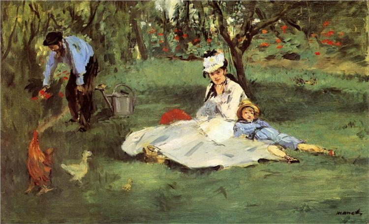 "Manet ""The Monet Family in their Garden at Argenteuil"" 1874"