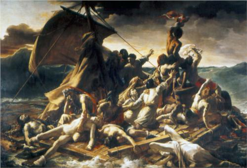 Painting of Raft Filled with Figures