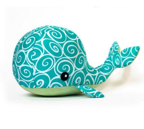 Green Whale Stuffed Animal