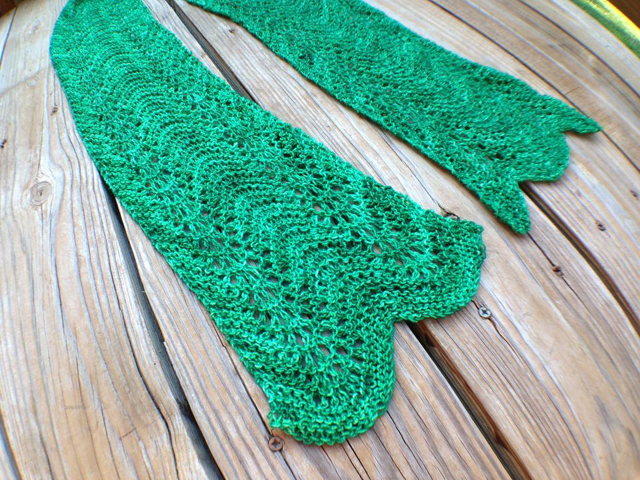 Textured old shale sock yarn scarf