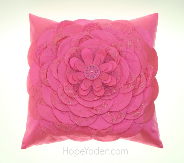 Complete Pink Pillow with Flower