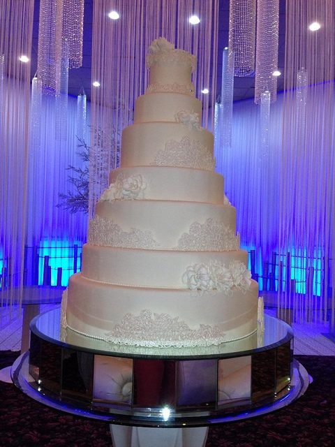 Very Tall Wedding Cake