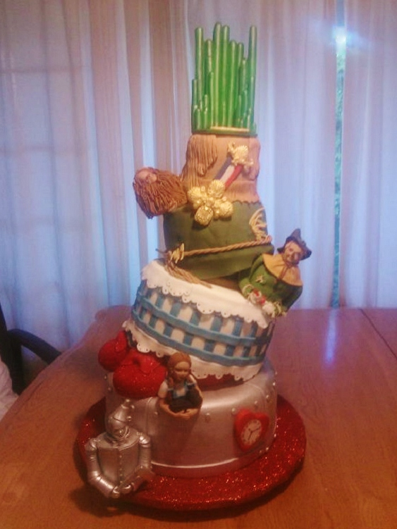 Topsy Turvy Wizard of Oz Themed Cake