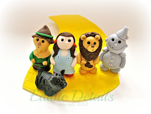 Fondant Cake Toppers - Dorothy and Friends