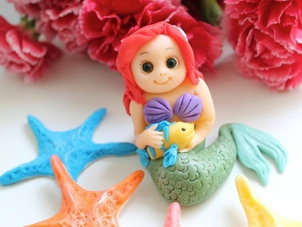 Fondant Little Mermaid and Starfish