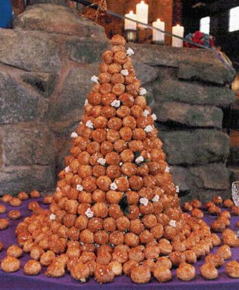 Croquembouche Tower, Stones in Background