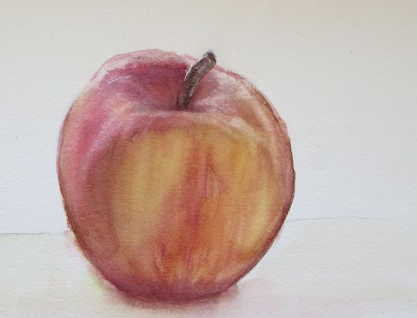 The finished painting of an Apple