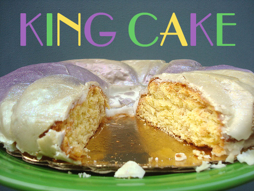 King Cake with Text Graphic