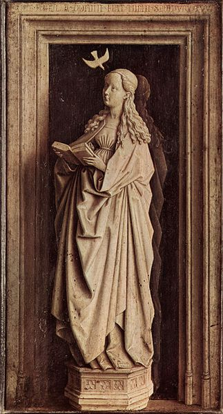 Jan van Eyck Painting: Annunciation, 1439, Oil on panel