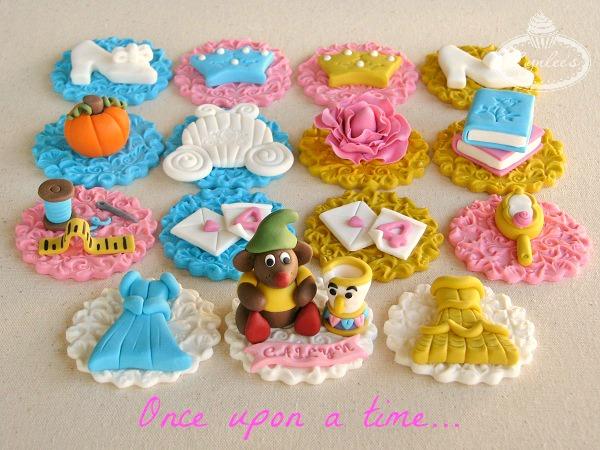 Princess Cupcake Fondant Topper Variety