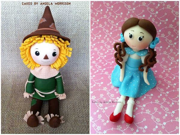 Fondant Scarecrow and Dorothy