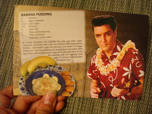 Bannana Pudding Recipe from Cookbook, Featuring Elvis