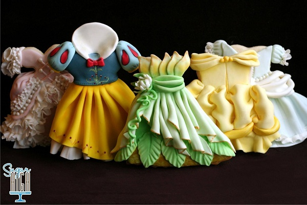 Cookies in Shape of Princess Gowns