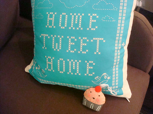 "Pillow Reading ""Home Tweet Home"""