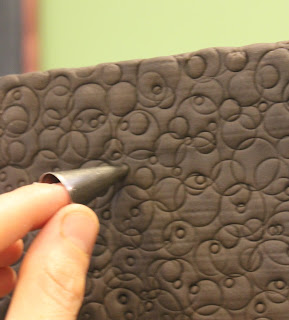 Continued Imprinting, Embossing, Using a Small Decorating Tip