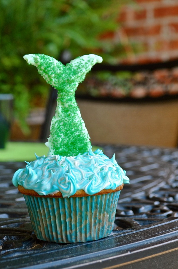 Chocolate Mermaid Tail Cupcake Topper