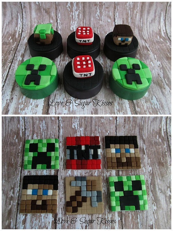 Minecraft-Themed Fondant Toppers