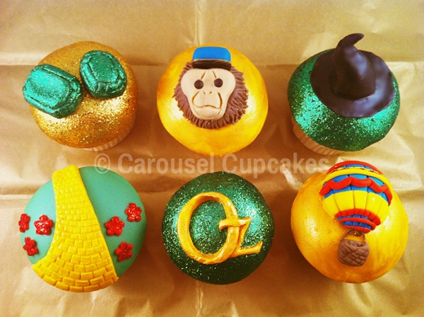 Glittery Wizard of Oz Cupcakes