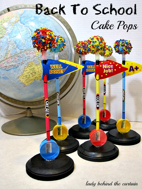 Cake Pops Atop Pencils