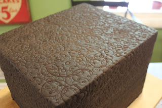 Cake Covered Entirely with Embossing
