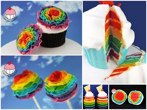 Rainbow-Themed Cupcakes, Cake and Cake Pops