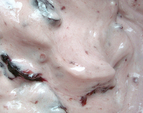 Mixing Cherry Mixture and Buttercream
