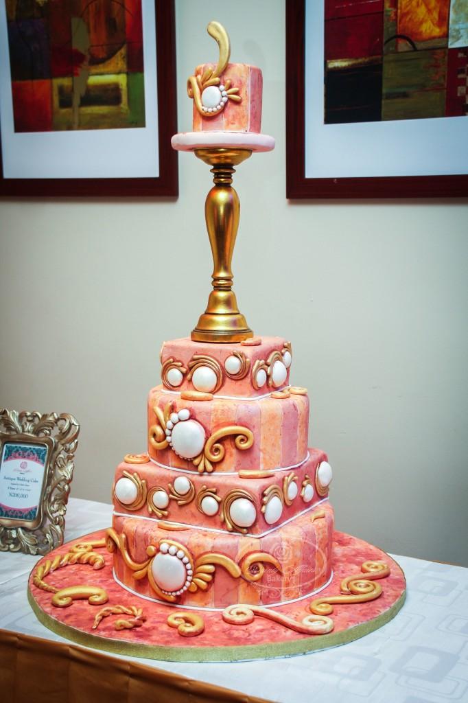 Elegant Pink Tiered Cake
