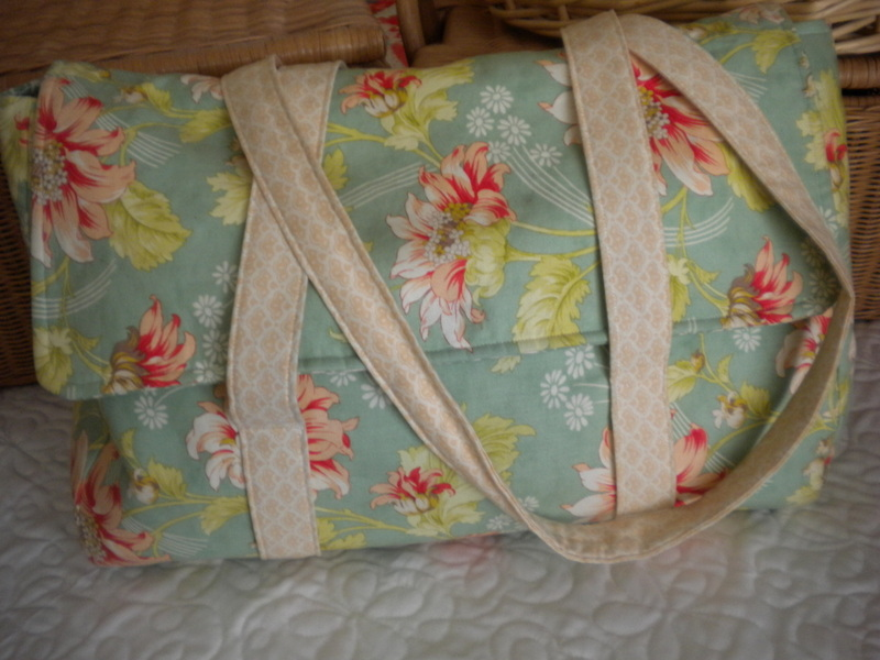 Large Floral Quilted Tote
