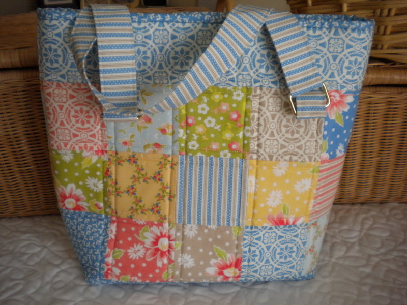 Cute Patterended Patchwork Tote
