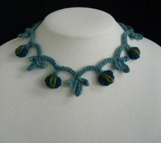Crocheted Blue Necklace