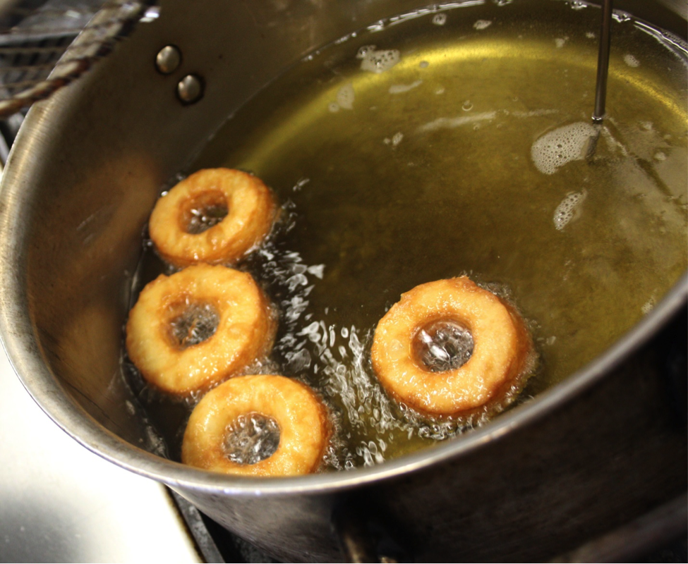 Dough Frying in Pan
