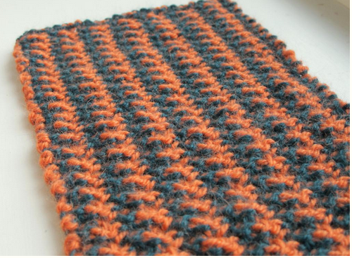 Orange and Grey Houndstooth